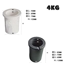 YIYATOO High Purity Graphite Crucible Casting Melting Gold Silver Scrap Casting Mould. Kit. (4kg)