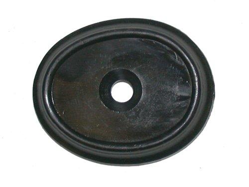 Black Grip Cap w/ Screw, Hard Rubber