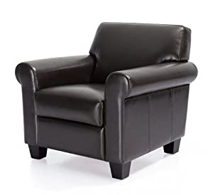 Manchester Leather Classic Club Chair Espresso Living
