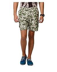 Yepme Jeryl Printed Shorts - Green -- YPMSORT0139_28