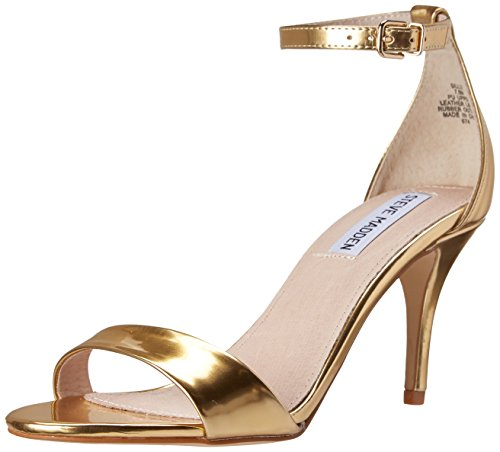 Steve Madden Women's Sillly Dress Sandal, Gold Foil, 9.5