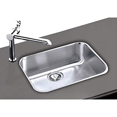 Elumina Undermount Stainless Steel 23-1/2x18-1/4x 8 in. 0-Hole Single Bowl Kitchen Sink in Satin