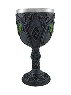 Medieval Renaissance Wine Goblet Chalice Cup (Green Dragon)