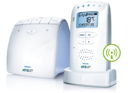 Philips AVENT DECT Baby Monitor with Temperature Sensor and New ECO Mode