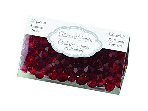 Lillian Rose Diamond Confetti, Red