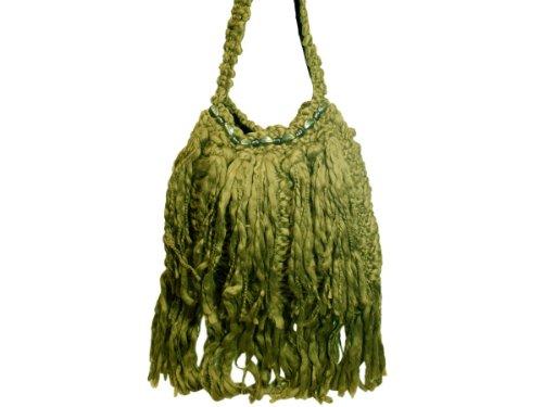 Wholesale Set Of 1, Handmade Over-The-Shoulder Olive Bag (Fashion Accessories, Handbags), $29.67/Set Delivered