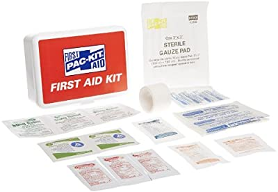Pac-Kit by First Aid Only 7109 42 Piece Travel First Aid Kit In Plastic Case, For 10 People by Pac-Kit