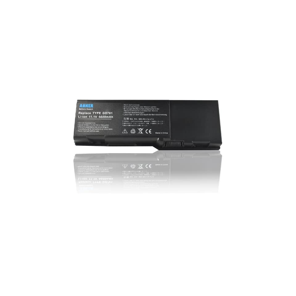 Anker® New Laptop Battery for Dell Compatible Models and Part Numbers, Dell Inspiron E1505 Series   18 Months Warranty [Li ion 9 cell 6600mAh] Computers & Accessories