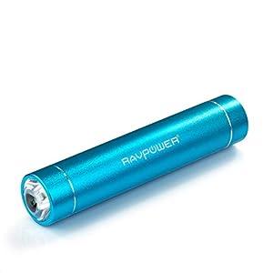 [Nouvelle Version] RAVPower® 2nd Gén 3200mAh Batterie externe Chargeur de batterie externe avec lampe de poche intégrée munie de la Technologie iSmart pour iPhone 6 , 5S , 5C , 5 , 4S , 4, iPod (Câble pour iPhone NON fourni) ; Samsung Galaxy S4 , S4 mini , S3 ; Nexus 5 , Nexus 4, HTC Sensation, One X V One X V S, EVO 4G, Thunderbolt; Nokia Lumia 1020, 920 900 N9 ; Motorola Razr ; adapté à la plupart des smartphones et d'autres appareils avec charge sur port usb - Bleu (Luster RP-PB08)