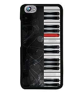 YuBingo Piano Designer Mobile Case Back Cover for Micromax Fire 4