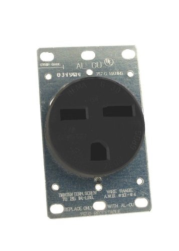 Leviton 061-05372-000 Power Receptacle 30 Amp 250 Volt Flush Mount