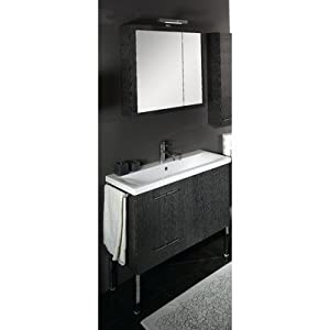 "Simple NS5 38.3"" Wall Mounted Bathroom Vanity Set Finish: Teak"