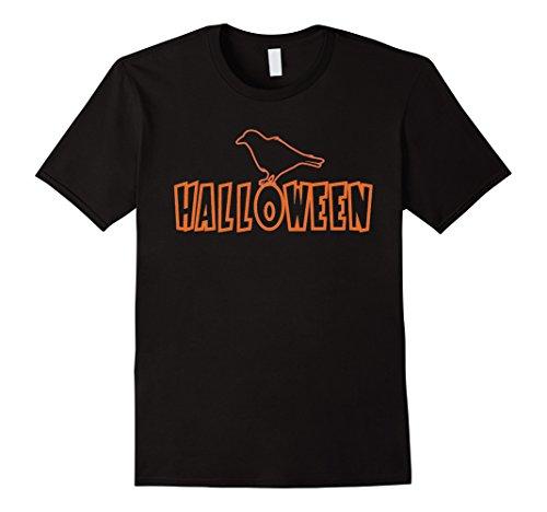 Men's Crow Halloween Costume T-Shirt Medium Black (Halaween Costume)