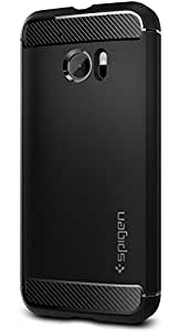 Spigen Rugged Armor HTC 10 Case with Resilient Shock Absorption and Carbon Fiber Design for HTC 10 2016 - Black