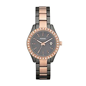 Fossil Damen-Armbanduhr XS Ladies Dress Analog Edelstahl ES3032