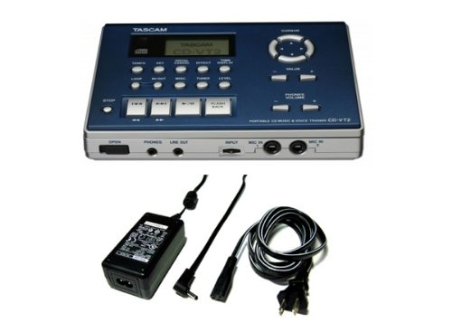 AC adapter Magzine TASCAM and Tascam CD-VT2 vocal trainer