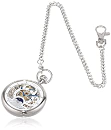 buy Charles Hubert 3816-W Dual Time Mechanical Pocket Watch