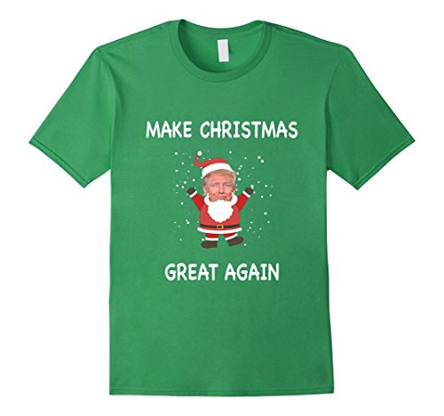 [Men's FUNNY MAKE CHRISTMAS GREAT AGAIN T-SHIRT Donald Trump 2016 2XL Grass] (Very Funny Costumes)