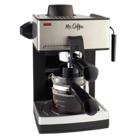 4-Cup Steam Espresso Machine in Black by Mr. Coffee