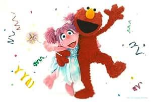 Elmo Birthday Cake Edible Image : Amazon.com: Sesame Street Elmo & Abby Cadabby Birthday ...