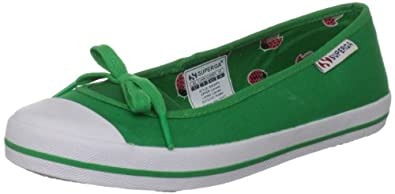 Superga Women's 2070 Cotw Island Green Slip Ons GS0020F0 3.5 UK