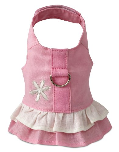 Doggles Hemp Dress Dog Harness with Flower, Pink, Teacup (Hemp Dog Harness compare prices)