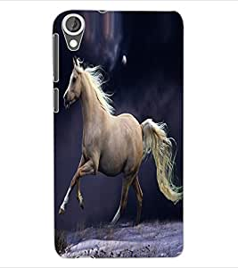 ColourCraft Fabulous Horse Design Back Case Cover for HTC DESIRE 820