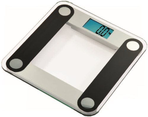 "Cheap EatSmart Digital Bathroom Scale w/ Extra Large Backlit 3.5″ Display and ""Step-On"" Technology, Black (ESBS-04)"
