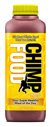 CHIMP FOOD Meal Replacement Drinks - 100% Real Raw Whole Food, 25-different Fruits, Berries, Veggies, Nuts & Seeds