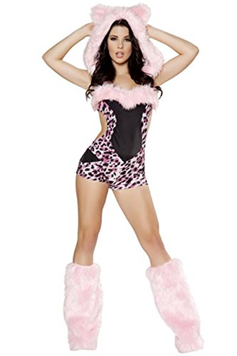 Lover-baby® Sleeveless Romper Styles Halloween Animal Sexy Pink Leopard Costume