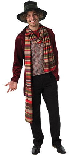 Rubies New Mens 4Th Doctor Who Suit Fancy Dress Costume Adults Party Outfit
