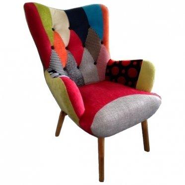 Java - Silla, diseño de patchwork escandinavo