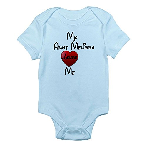 Cafepress My Aunt Loves Me Personalized Infant Bodysuit - 0-3M Sky Blue