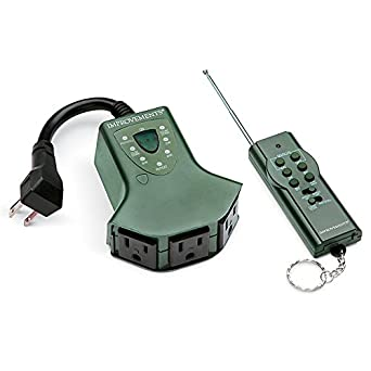 3 outlet outdoor power strip with remote