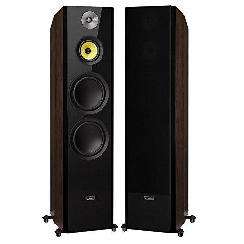 "Fluance Signature Series Hi-Fi Three-way Floorstanding Tower Speakers with Dual 8"" Woofers (HFFW) Natural Walnut"