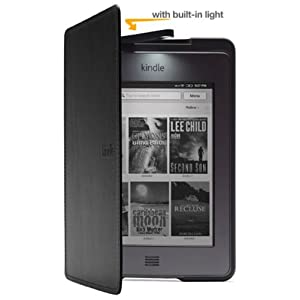 Amazon Kindle Touch Lighted Leather Cover, Black
