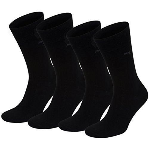 PUMA Herren Classic Casual Business Socken 4er Pack black / black 200 - 43/46