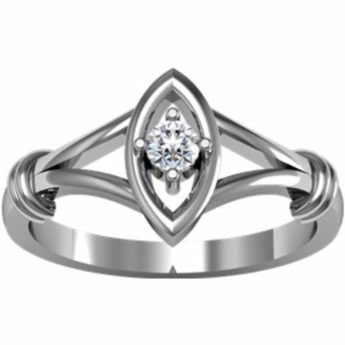 14K White Gold Diamond Promise Ring - 0.10 Ct. - Size 6