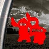 Lilo And Stitch Disney Cartoon Red Decal Window Red Sticker