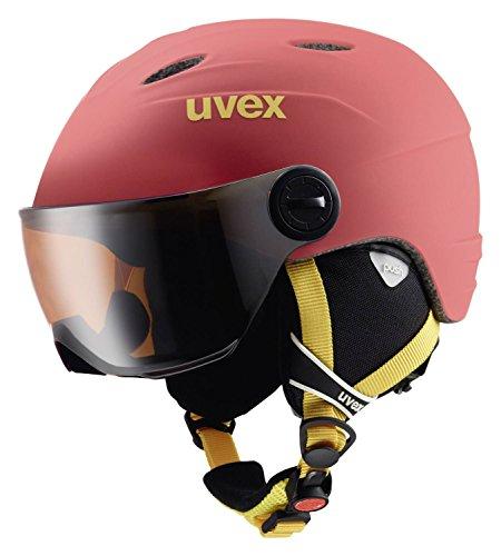 Uvex Casco da sci Junior Visor Pro bambini, Bambini, chilired mat, 54-56