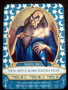 Sorcerers Mask of the Magic Kingdom Game, Walt Disney World - Card #40 - Yen Sid's Sorcerers Hat - 1