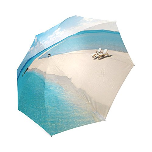 Good Quality Portable Fashion Rain Umbrella Printing Beach,Sun and Sand Pictures Printed Three-Folding Windproof Floding Travel Umbrella