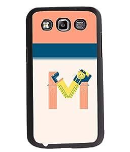 Printvisa 2D Printed Alphabet M Designer back case cover for Samsung Galaxy Quattro I8552- D4298