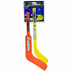 Franklin Mini Hockey Goalie Stick, Player Stick & Ball Set (Colors may vary) by Franklin