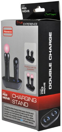 CrazyOnDigital Dual Charging Station for Playstation PS3 Move Controllers