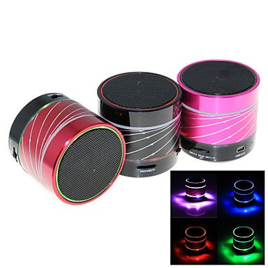 Zcl B12 Rgb Mini Bluetooth Speaker Micro Sd Mic Usb Aux Portable Handfree For Iphone Samsung And Other Cellphone , Red