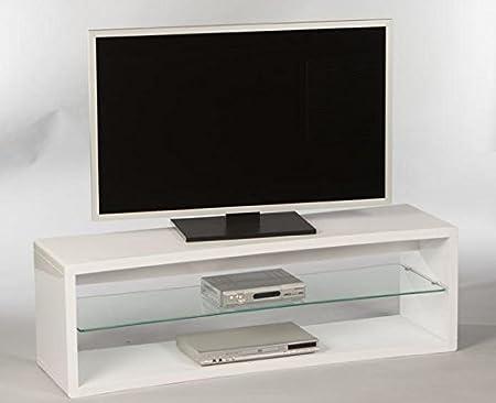Lowboard 16833 TV-Möbel Fernsehmöbel TV-Untergestell Weiß Hochglanz