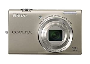 Nikon COOLPIX S6200 16 MP Digital Camera with 10x Optical Zoom NIKKOR ED Glass Lens and HD 720p Video (Silver)