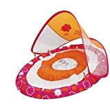 Swim Ways Baby Spring Float Sun Canopy - Pink and Orange (Flowers)