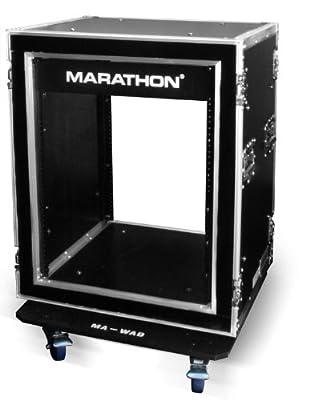 Marathon Flight Road Case MA14UADSM21W 14u Shock Mount Amplifier Deluxe 21-Inch Body Depth Case with Wheels